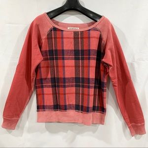 TEXTILE Check Plaid Pattern Sweatshirt